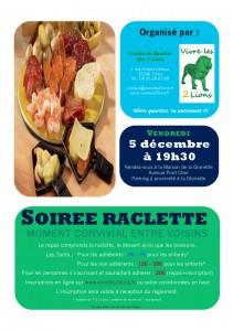 Soirée raclette de Vivre les 2 Lions @ Maison de la Gloriette | Tours | Centre | France