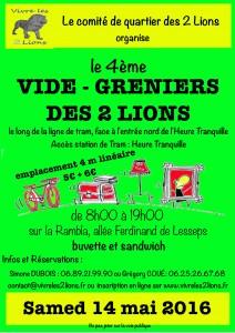 4ème Vide-grenier des 2 Lions @ sur la Rambla au pied de la station de tram | Rennes | Bretagne | France