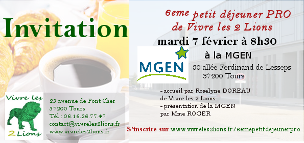 invitation 6eme petit dejeuner pro